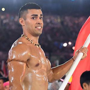 Pita Nikolas Aufatofua, Tonga, Rio 2016 Olympics, opening ceremony
