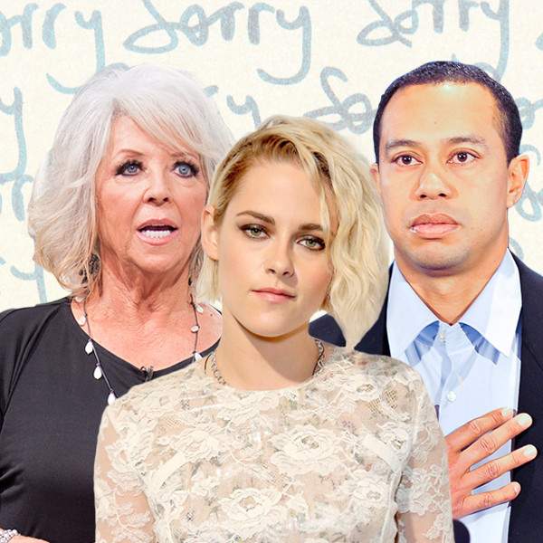 Celebrity Apologies, Paula Deen, Kristen Stewart, Tiger Woods