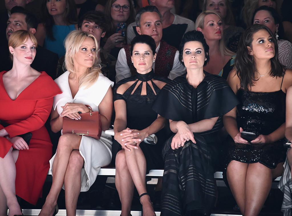 Christina Hendricks, Pamela Anderson, Neve Campbell, Jaimie Alexander, Ashley Graham, NYFW