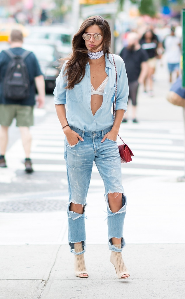 Sara Sampaio From Street Style At New York Fashion Week Spring 2017 E News