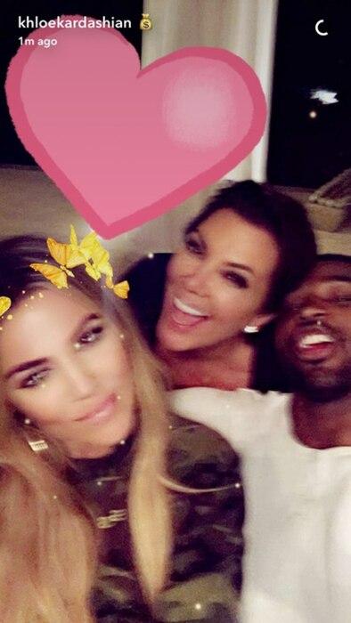 Khloe Kardashian, Kris Jenner, Tristan Thompson, Snapchat