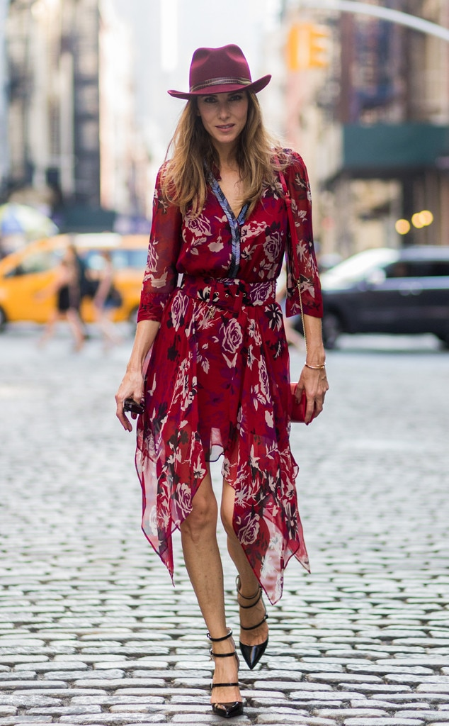 Alexandra Lapp From Street Style At New York Fashion Week Spring 2017 E News