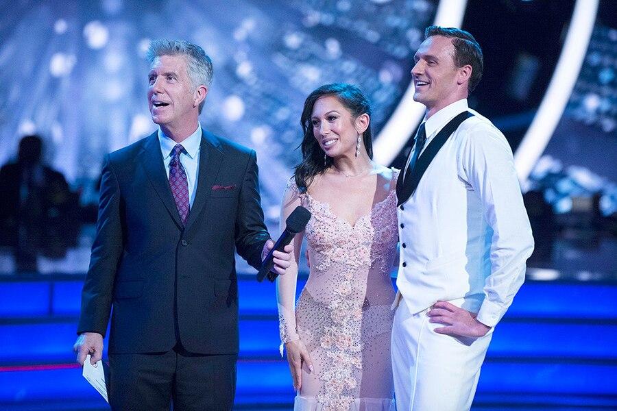 Ryan Lochte, Cheryl Burke, Tom Bergeron, DWTS, Dancing With the Stars