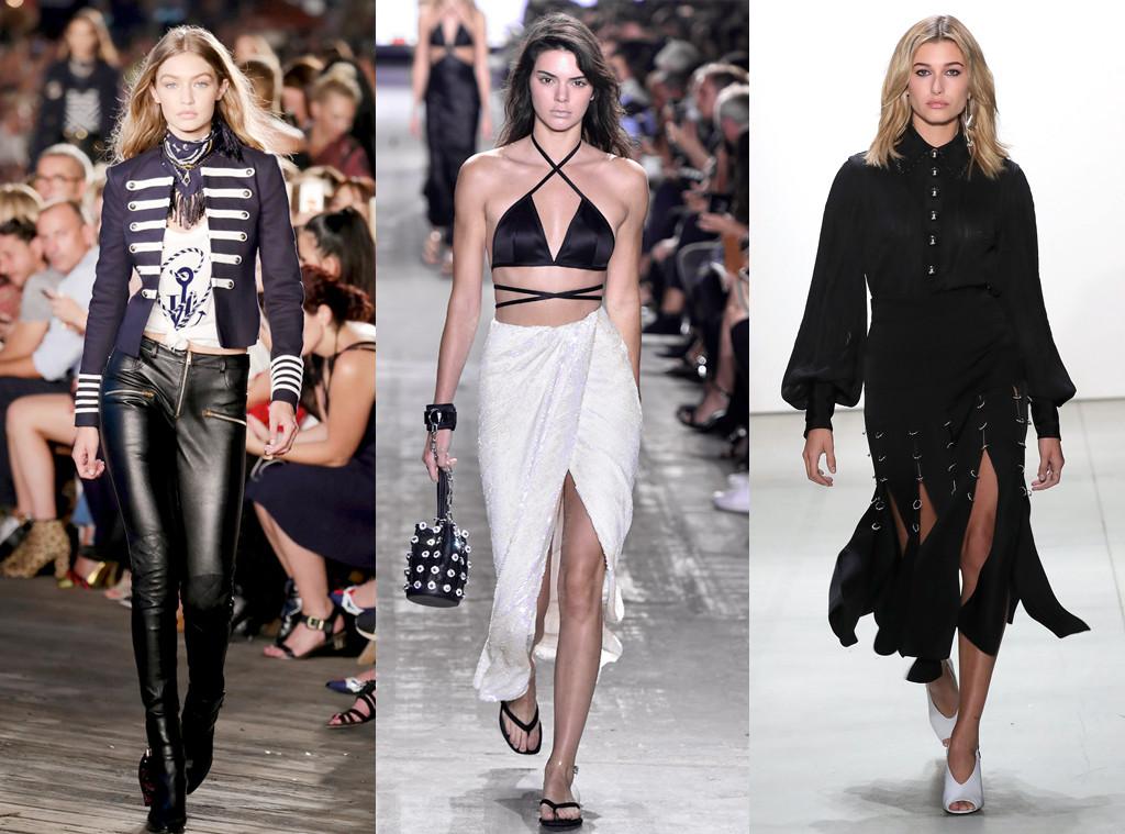 Gigi Hadid, Kendall Jenner, Hailey Baldwin, NYFW