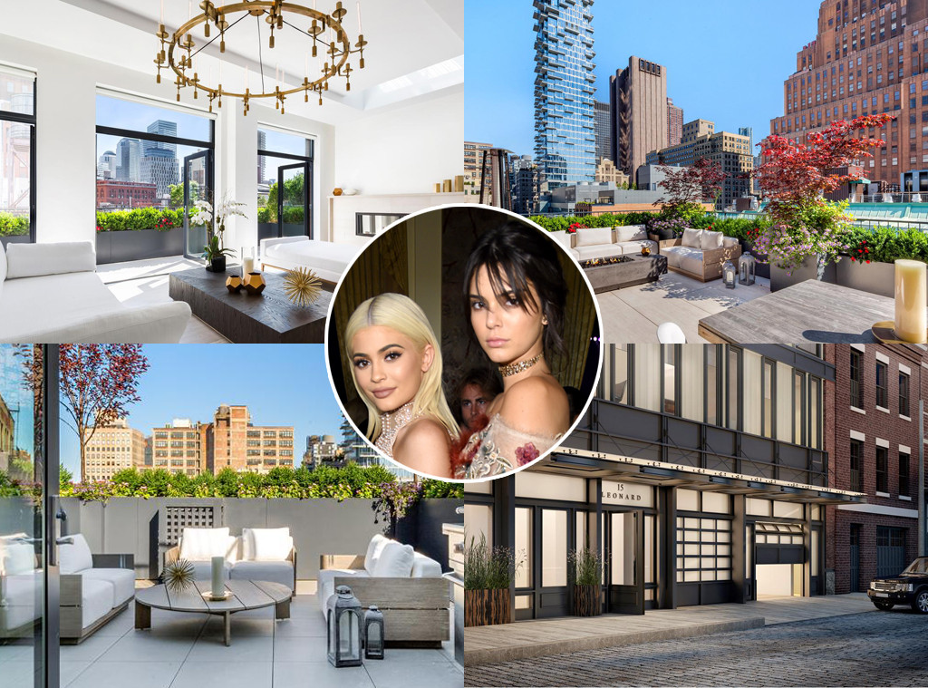 Kendall Jenner, Kylie Jenner, New York Tribeca Apartment