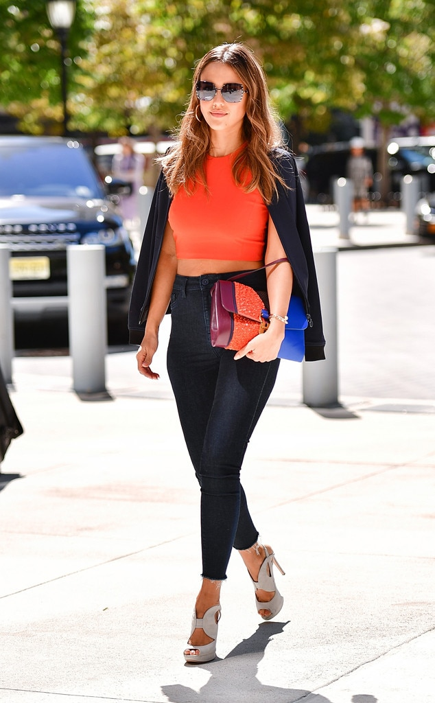 Jessica Alba from Best Celeb Street Style From NYFW Spring ...