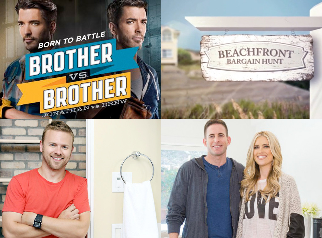 HGTV Bracket, Brother Vs. Brother, Beachfront Bargain Hunt, Bath Crashers, Flip or Flop