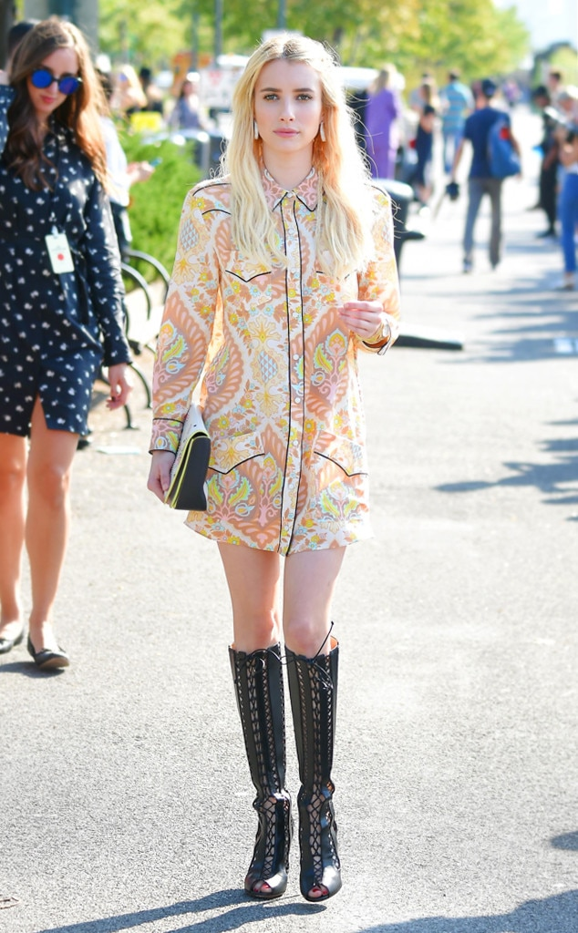 Emma Roberts From Best Celeb Street Style From Nyfw Spring 2017 E News
