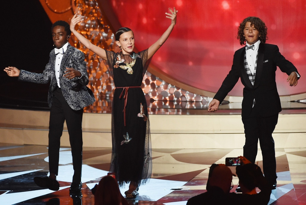 Gaten Matarazzo, Caleb McLaughlin, Millie Bobby Brown, 2016 Emmy Awards, Stranger Things Kids