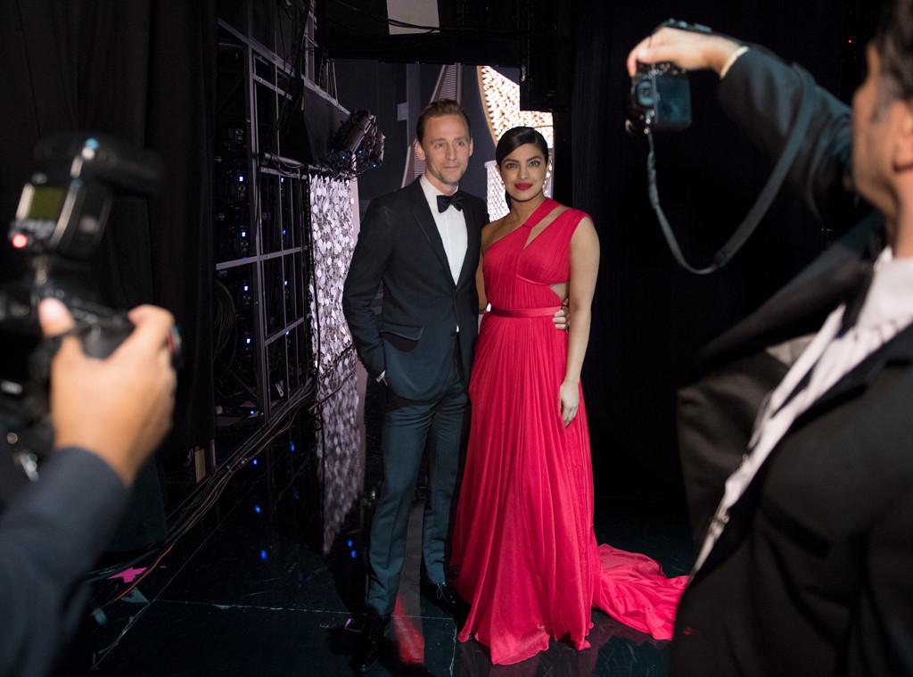 Tom Hiddleston, Priyanka Chopra, 2016 Emmy Awards, Candids