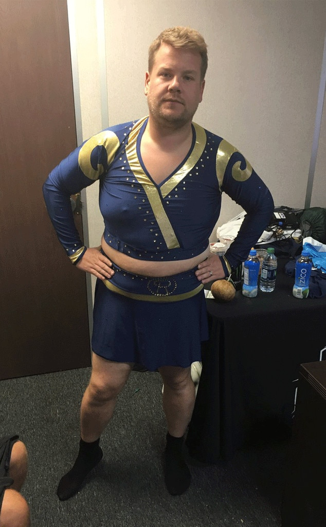 James Corden S Los Angeles Rams Cheerleader Outfit May