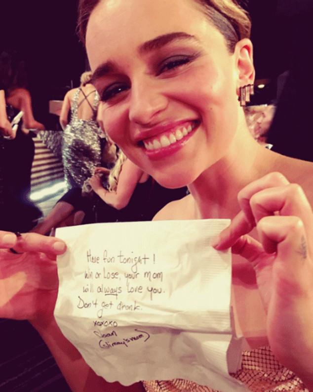 Emilia Clarke, Emmys Instagrams