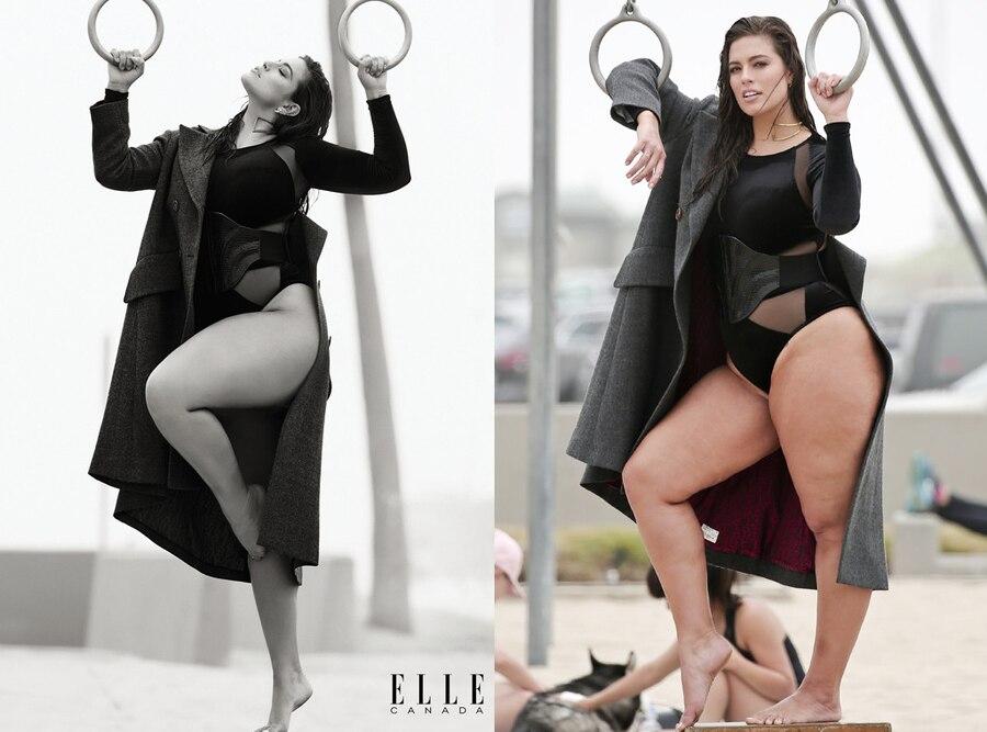 Elle Canada, Ashley Graham, Photoshop