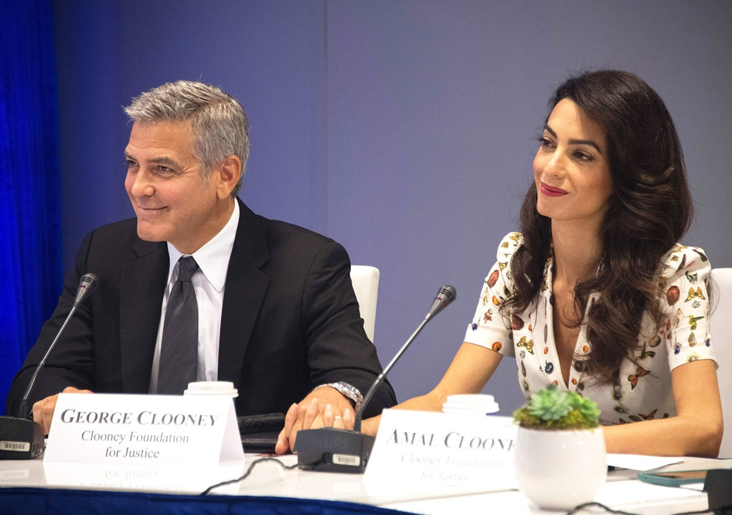 Amal Clooney Makes Speech at United Nations Wearing Bright Yellow