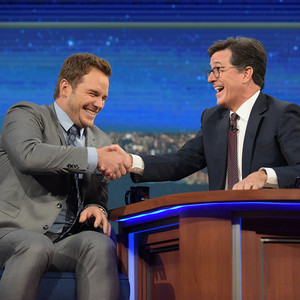 Chris Pratt, Stephen Colbert, The Late Show