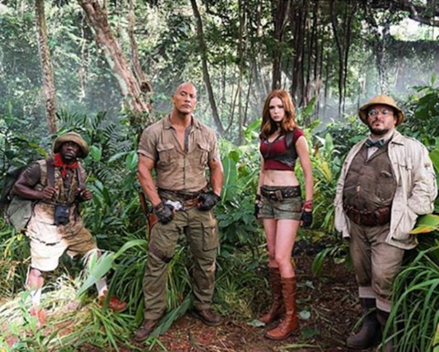 Kevin Hart, Dwayne The Rock Johnson, Jack Black, Karen Gillan, Jumanji