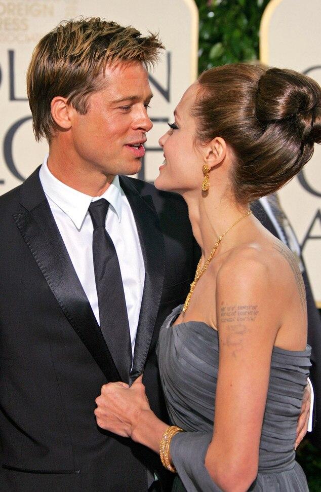 Brad Pitt, Angelina Jolie, 2007 Golden Globes