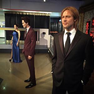Brad Pitt, Angelina Jolie, Madame Tussauds Wax Figures