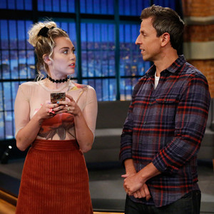 Seth Meyers, Miley Cyrus, Late Night