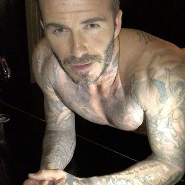 David Beckham, Shirtless, Instagram