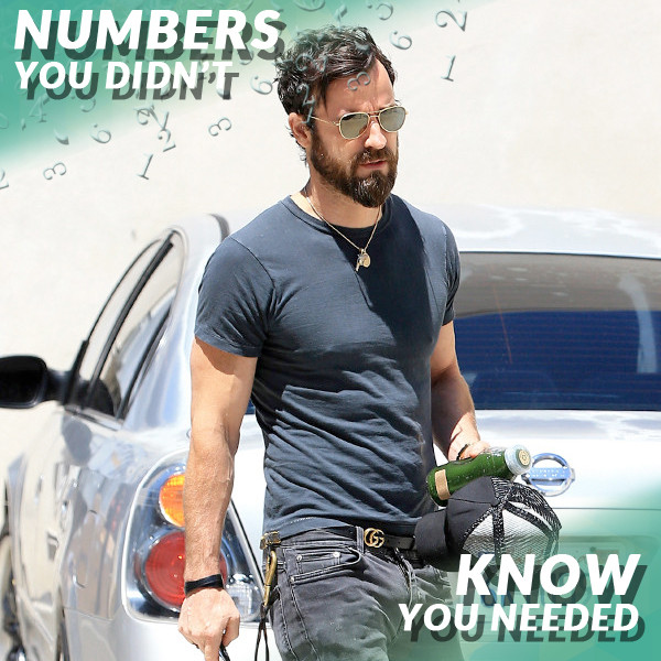 Numbers You Didn't Know, Justin Theroux
