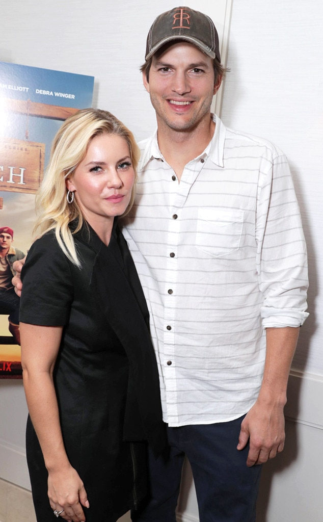 Elisha Cuthbert and Aston Kutcher at the screening of The Ranch