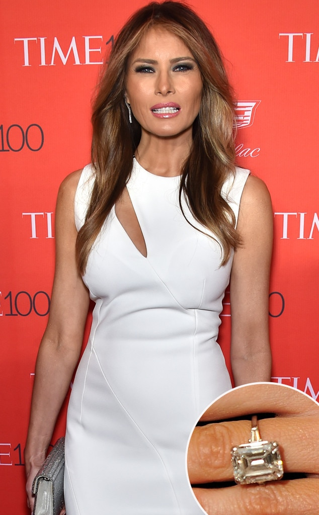Melania Trump From Hollywood S Priciest Engagement Rings