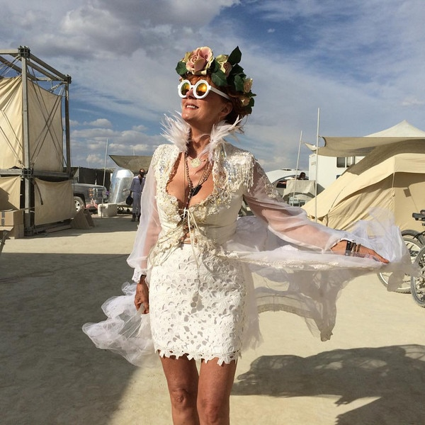 Susan Sarandon From Celebrities At Burning Man E News