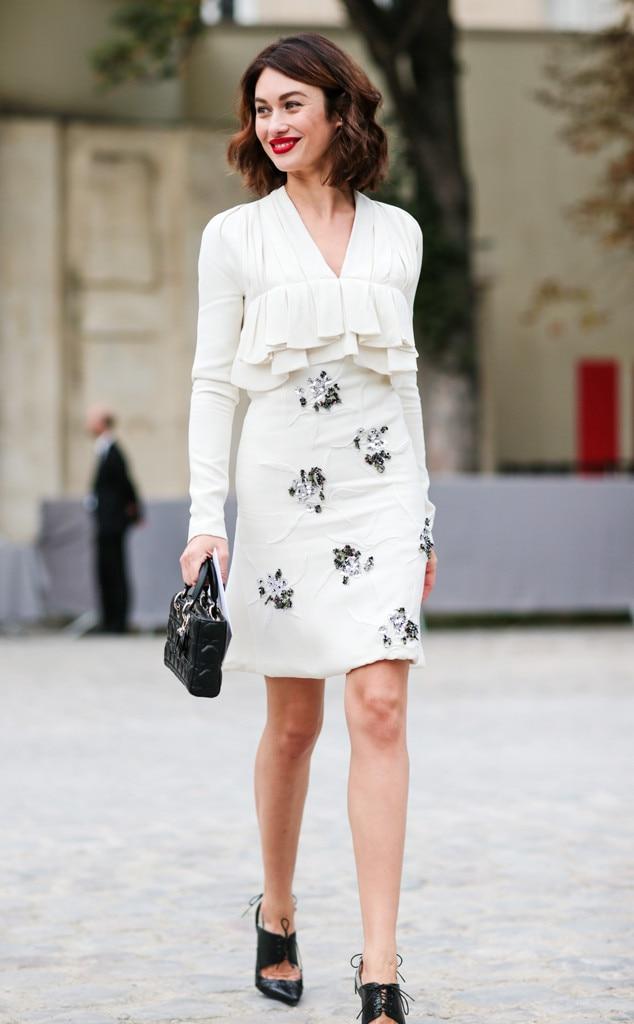 Olga Kurylenko From Best Celeb Street Style From Paris Spring 2017 E News