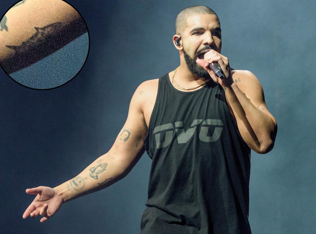 Drake, Shark Rihanna Tattoo