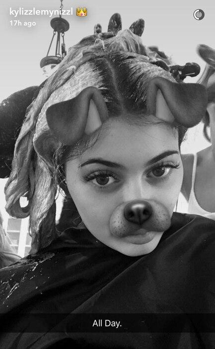 Kylie Jenner, Blonde, Snapchat