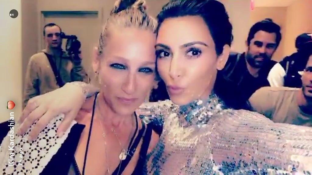 Kim Kardashian, North West, Alicia Keys, Carine Roitfeld, Sarah Jessica Parker