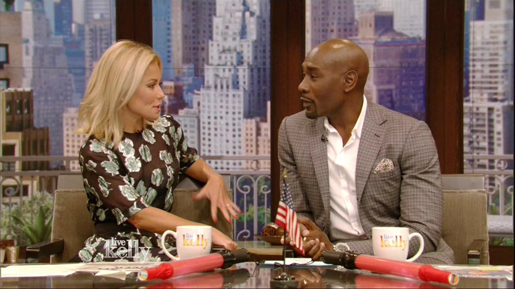 Kelly Ripa, Morris Chestnut, Live With Kelly