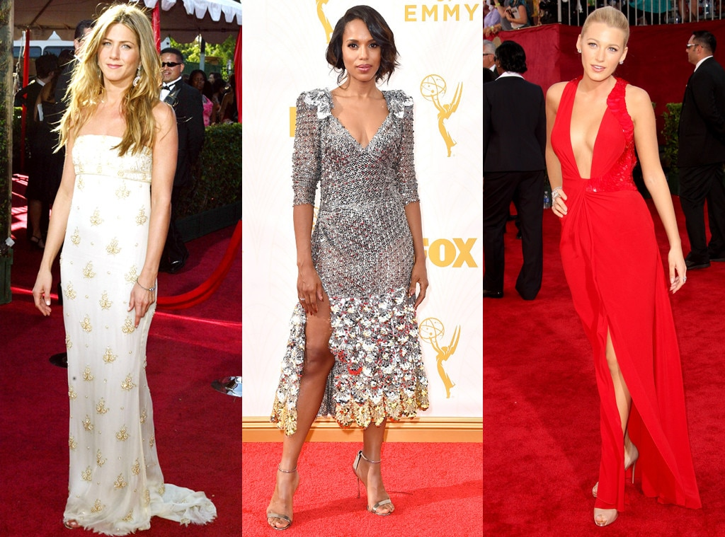 Jennifer Aniston, Kerry Washington, Blake Lively, Emmy Awards Top Fashion