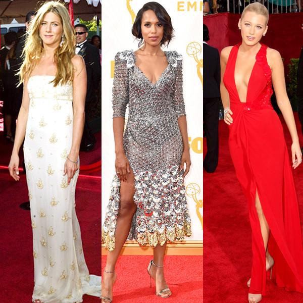 Jennifer Aniston, Kerry Washington, Blake Lively, Emmy Awards Top Fashion