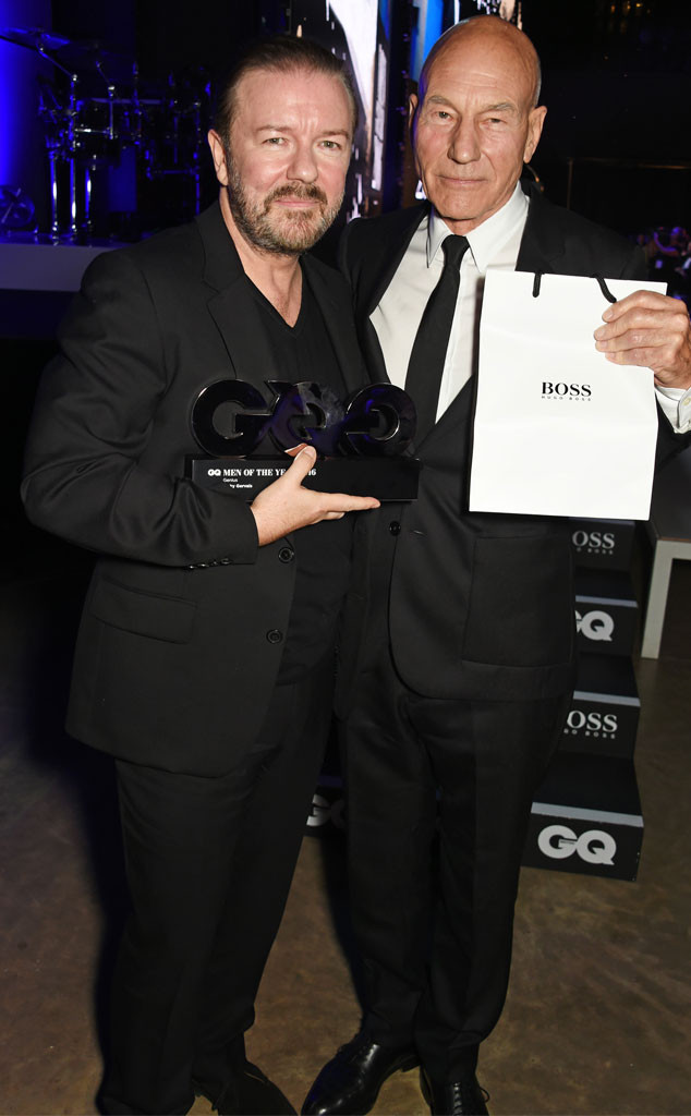 Ricky Gervais, Patrick Stewart, GQ Men of the Year Awards, Winner