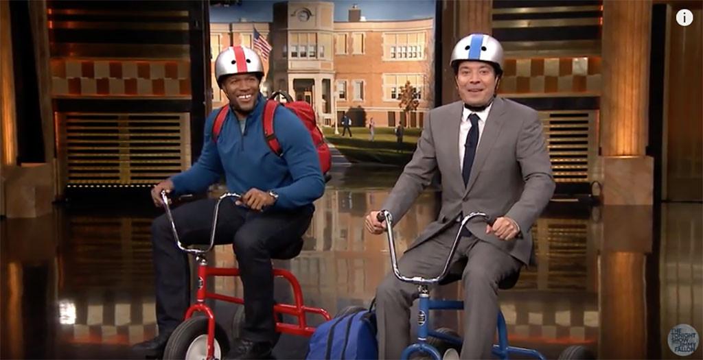 Michael Strahan, Jimmy Fallon, The Tonight Show