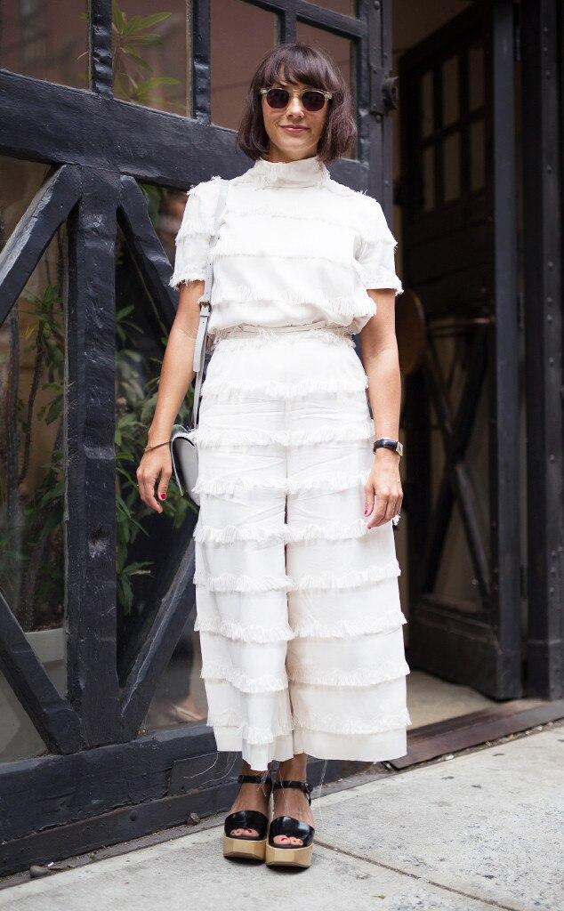 Rashida Jones From Best Celeb Street Style From Nyfw