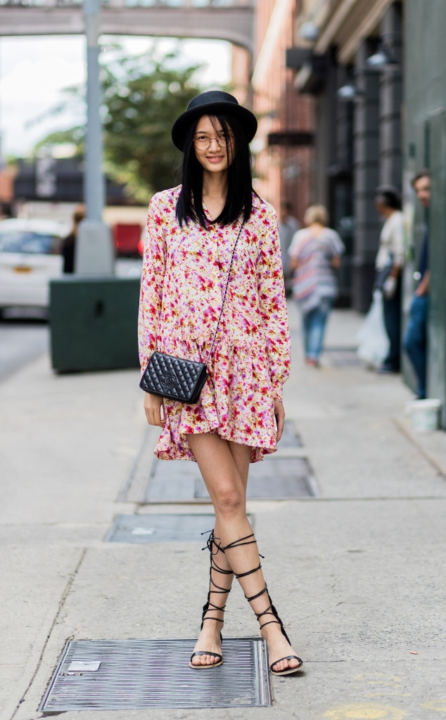 Qiwen Feng From Street Style At New York Fashion Week Spring 2017 E News
