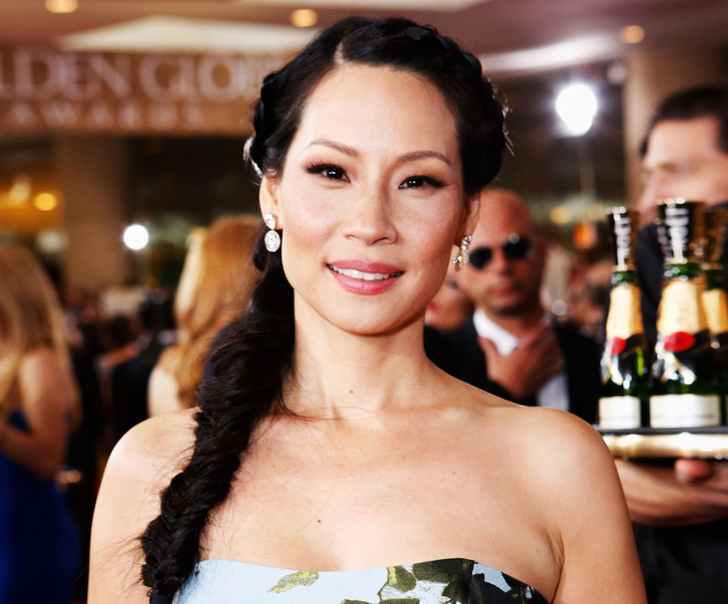 Elementary Red Carpet Lucy Liu In Red Lace Monique