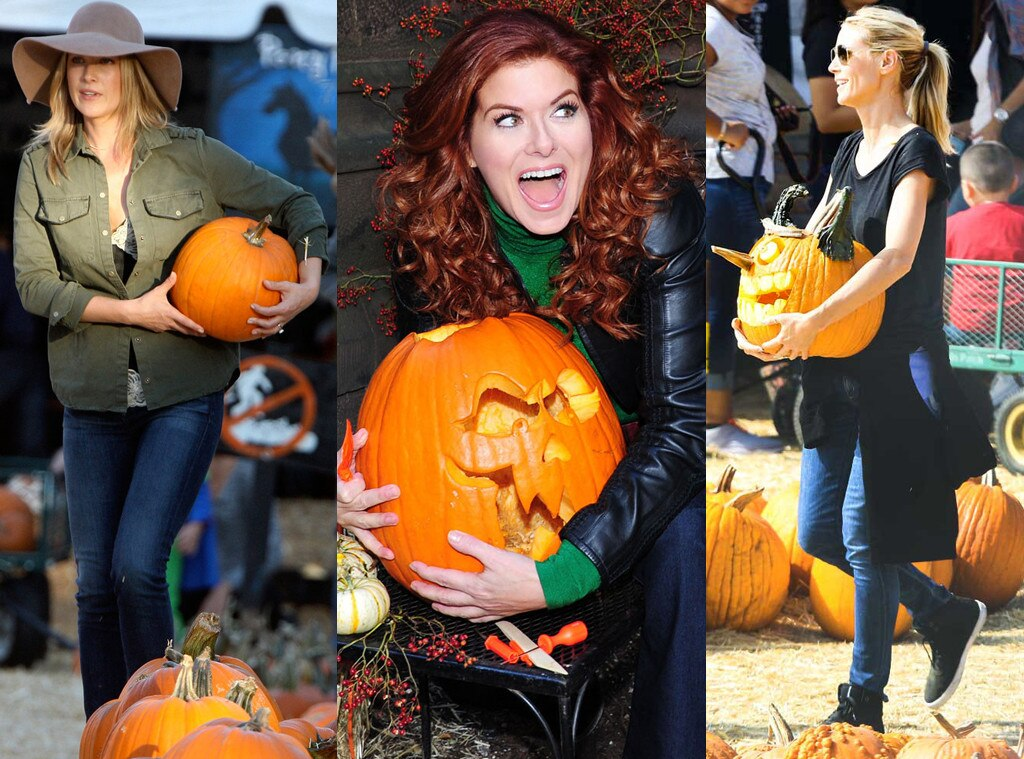 Debra Messing, Ali Larter, Heidi Klum, Halloween, Pumpkin Patch