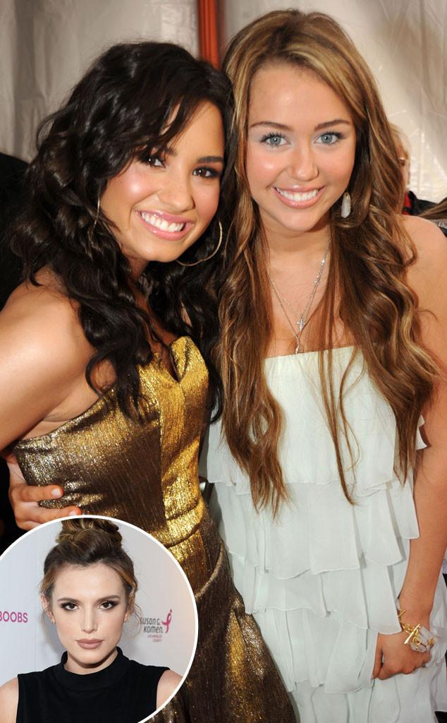 Demi Lovato, Miley Cyrus, Bella Thorne