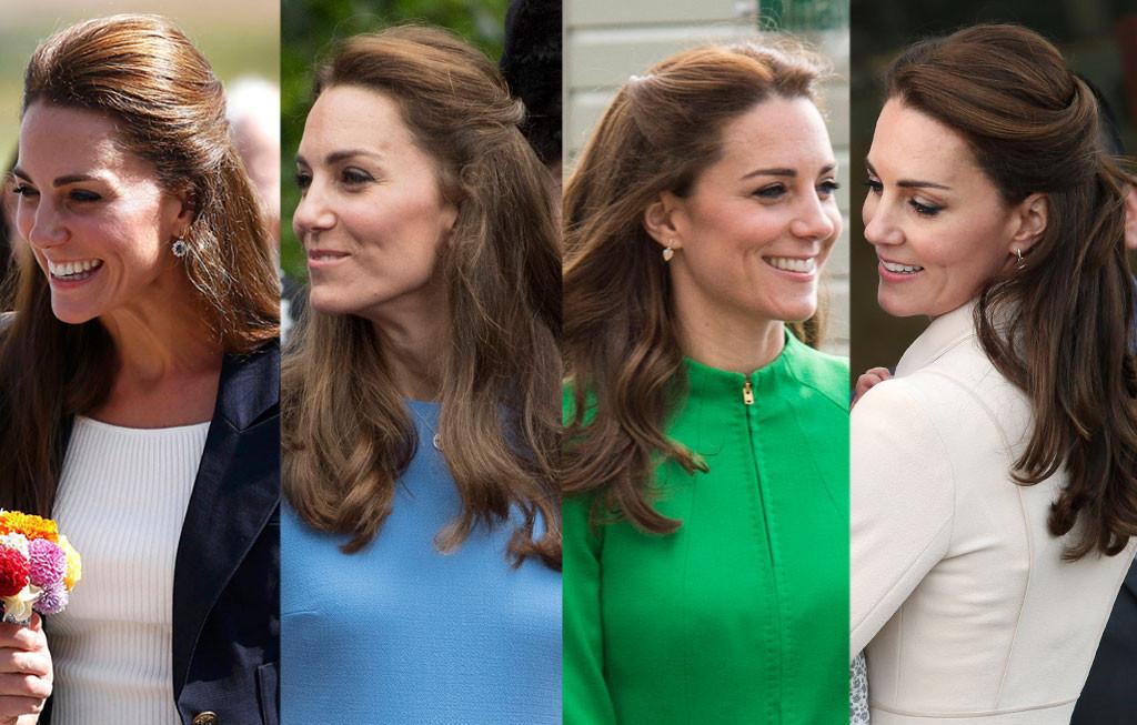 Kate Middleton, Hair, Half-Up