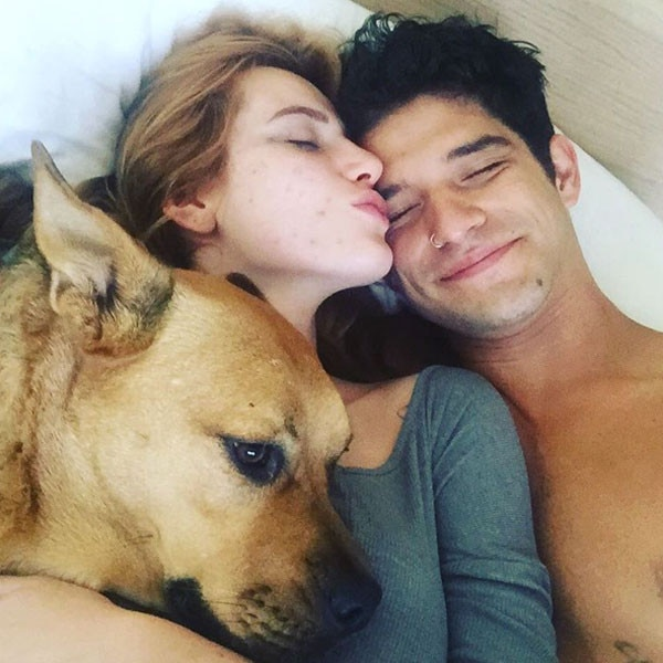 Tyler Posey, Bella Thorne, Bed, PDA