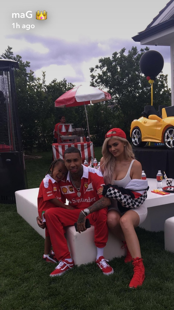 Kylie Jenner, Tyga, King Cairo, Ferrari Birthday Party, Snapchat