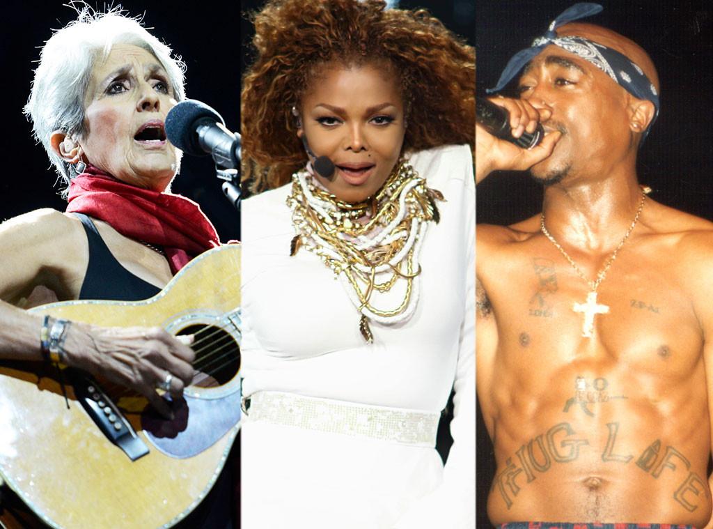 Joan Baez, Janet Jackson, Tupac