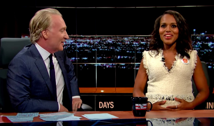 Kerry Washington, Real Time with Bill Maher