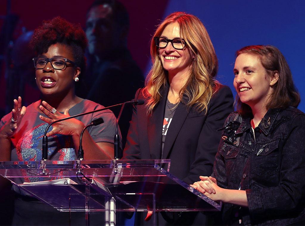 Uzo Aduba, Julia Roberts, Lena Dunham, Hillary Clinton Fundraising Concert