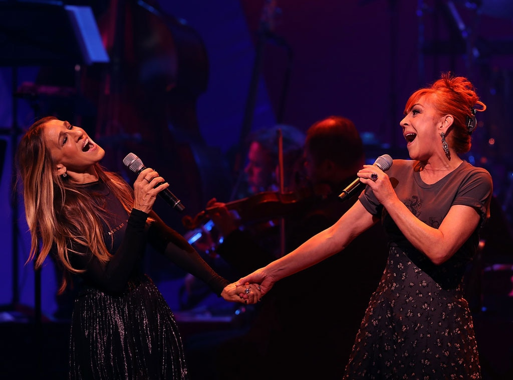 Sarah Jessica Parker, Andrea McArdle, Hillary Clinton Fundraising Concert