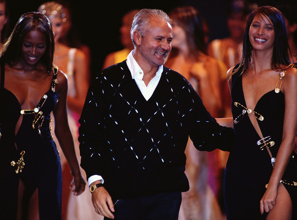 Gianni Versace, Naomi Campbell, Christy Turlington
